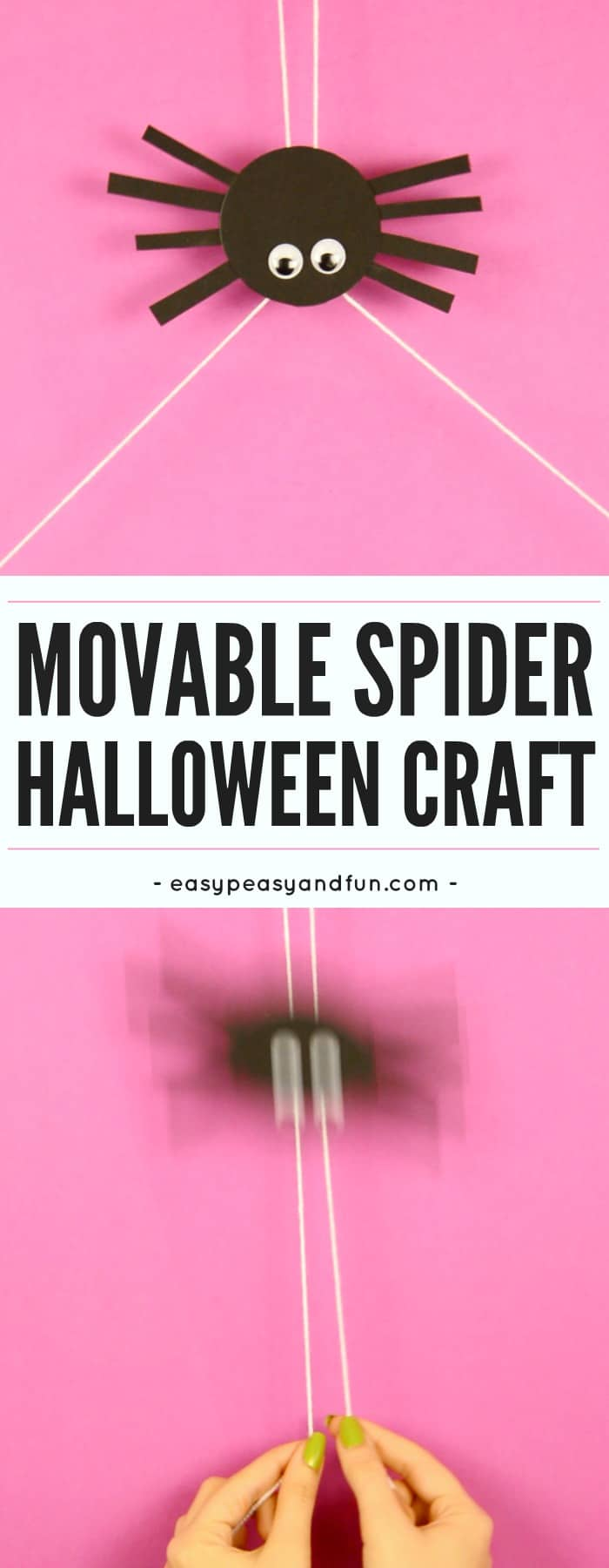 Movable Spider Craft Easy Peasy