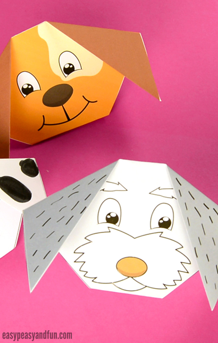 picture relating to Dog Template Printable called How towards Create an Origami Pet - Uncomplicated Peasy and Pleasurable