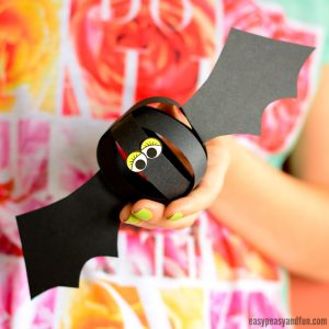 Paper Bat Craft for Kids