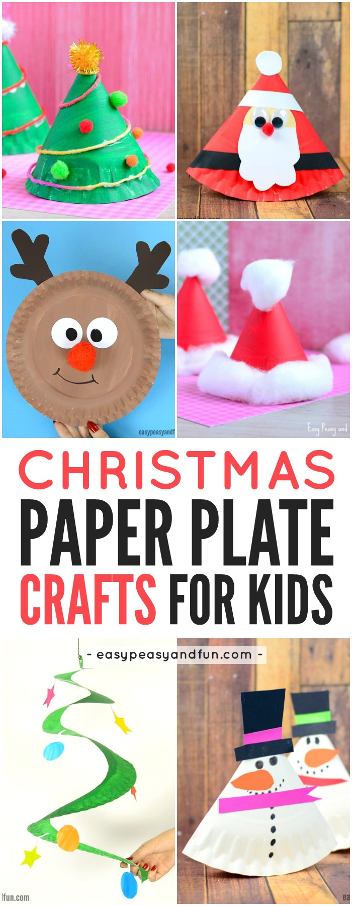 Paper Plate Christmas Crafts - Easy Peasy and Fun