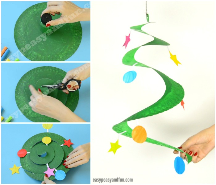 Paper Plate Christmas Tree Craft Idea