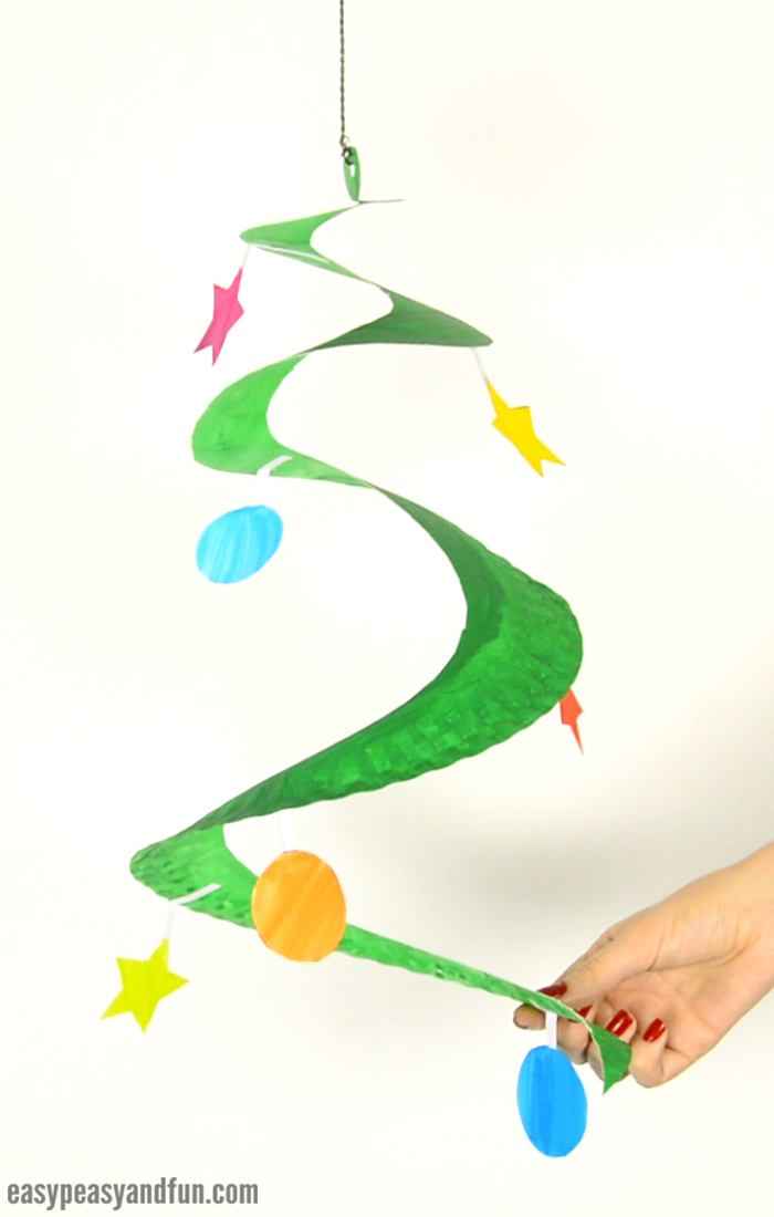 Swirling Paper Plate Christmas Tree Easy Peasy And Fun