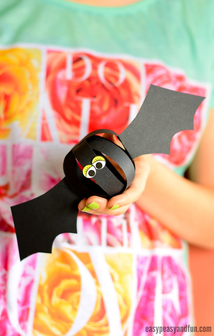 Paper Strips Bat Craft for Kids