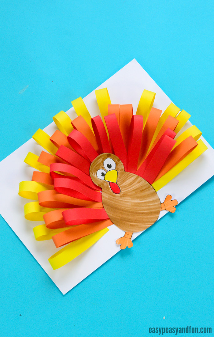 Paper Strips Turkey Craft