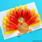 Paper Strips Turkey Craft for Kids