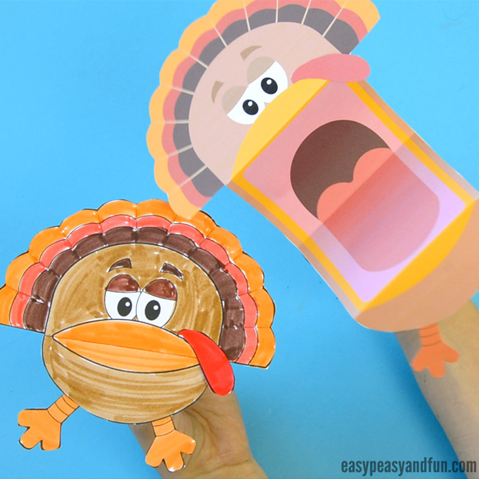 photograph relating to Printable Turkey Picture named Printable Turkey Puppets - Basic Peasy and Entertaining