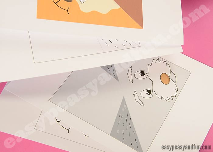 Origami Instructions of a Maltese Dog Face | Free Printable ... | 500x700