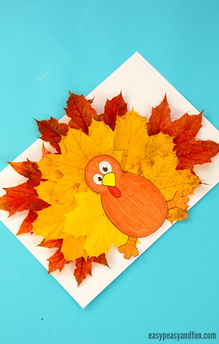 Turkey Leaf Craft Template for Kids
