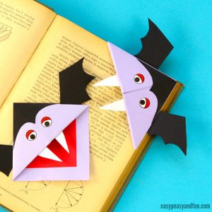 Vampire Corner Bookmark for Kids
