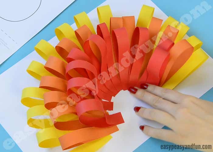 Paper turkey craft easy peasy and fun