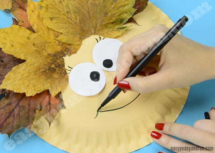 leaf face paper plate craft leaf paper plate craft easy peasy and 6888