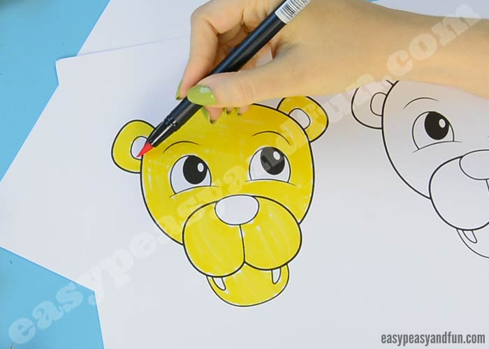 lion leaf craft leaf craft with printable template easy peasy and 2351
