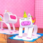 3D Construction Paper Unicorn Craft
