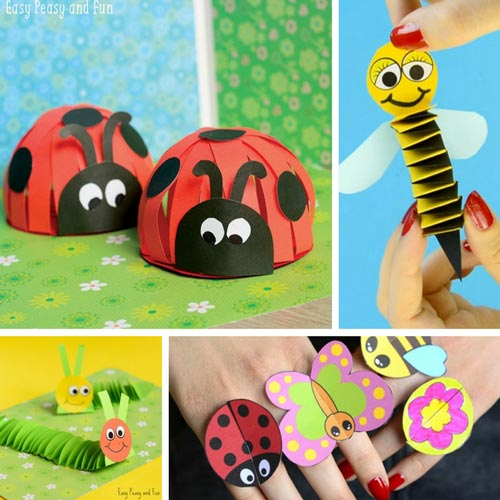 Bug Crafts for Kids to Make