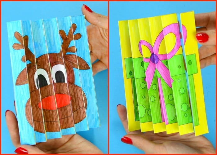 Christmas Agamograph Template for Kids
