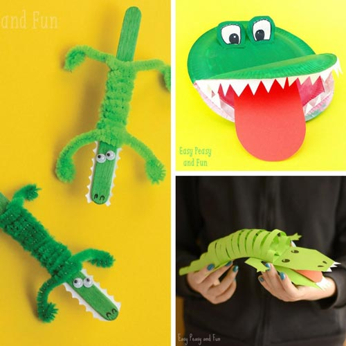 Crocodile and Alligator Projects for Kids