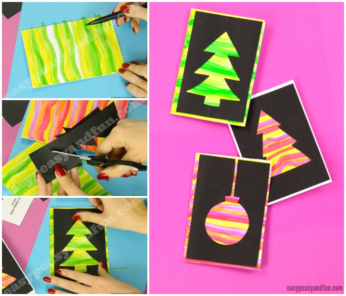 Cute DIY Silhouette Christmas Cards