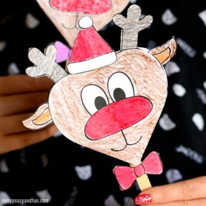 Cute Paper Reindeer Craft With Free Printable Template