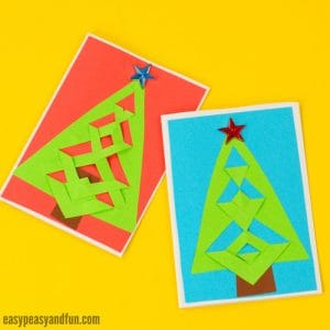 DIY Easy Festive Tree Christmas Card Idea