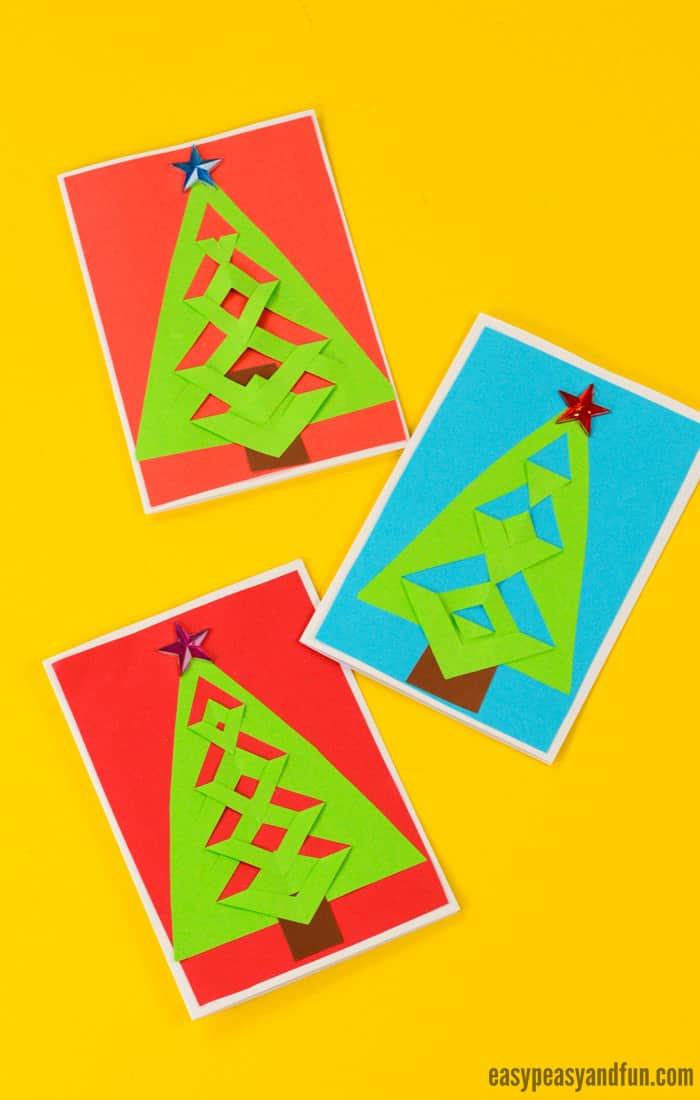 DIY Easy Festive Tree Christmas Card Idea for Kids #DIYChristmascard #Christmascraftsforkids #Christmascraftideasforkids