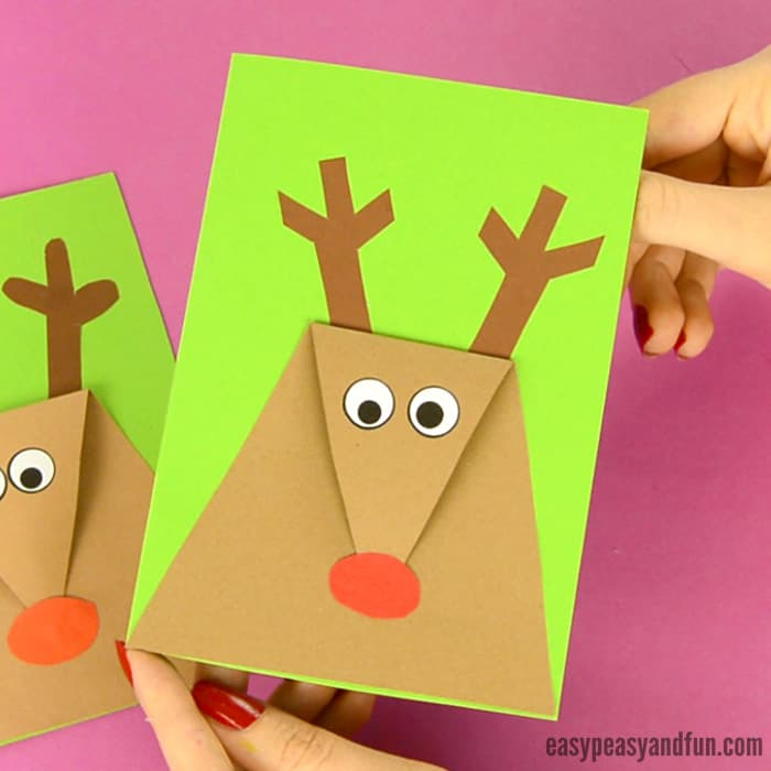 DIY Reindeer Christmas Card for Kids