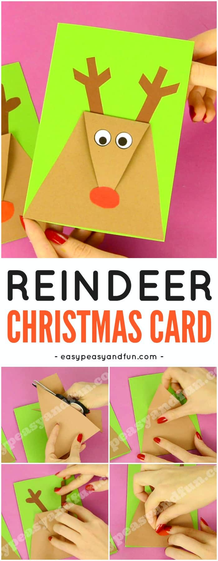 Reindeer Christmas Card - Easy Peasy and Fun