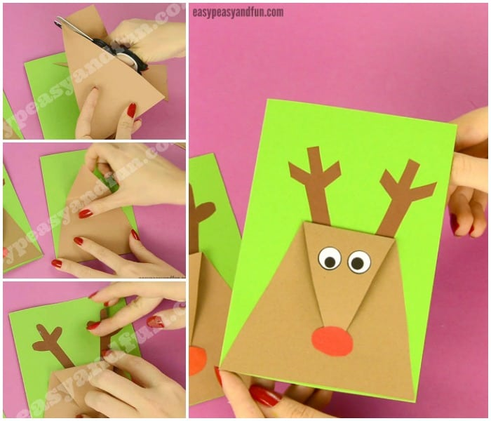 DIY Reindeer Christmas Card