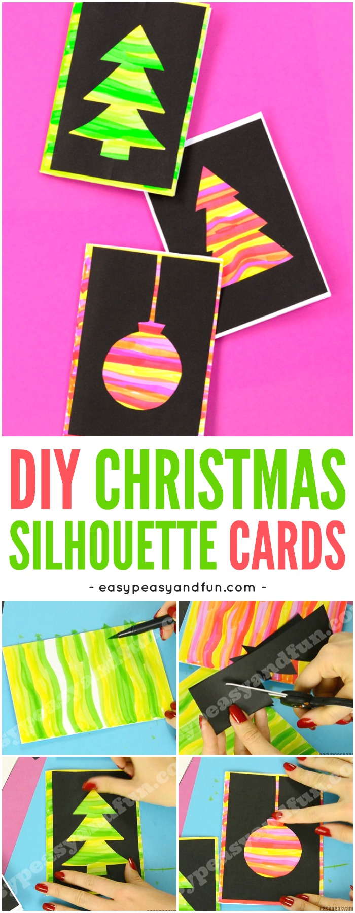 diy silhouette christmas cards diy silhouette cards easy peasy and 4262