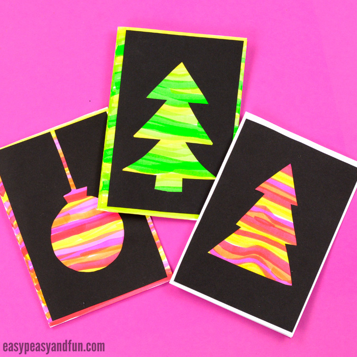 DIY Silhouette Christmas Cards for Kids