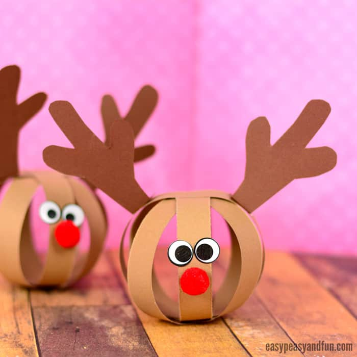 Paper Ball Reindeer Craft for Kids & Paper Ball Reindeer Craft - Easy Peasy and Fun