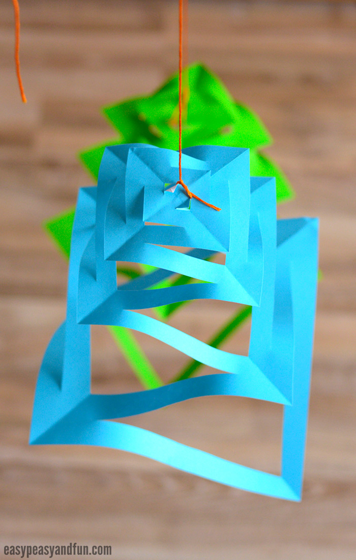 paper christmas decorations craft for kids - Aqua Christmas Decorations