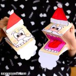 Printable Santa Paper Puppet Craft for Kids to Make