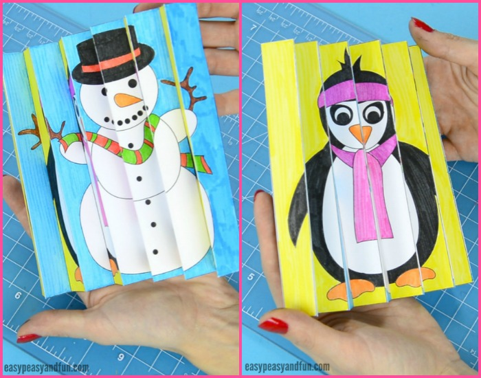 Printable Winter Agamograph for Kids