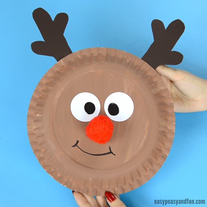 Reindeer Paper Plate Craft for Kids