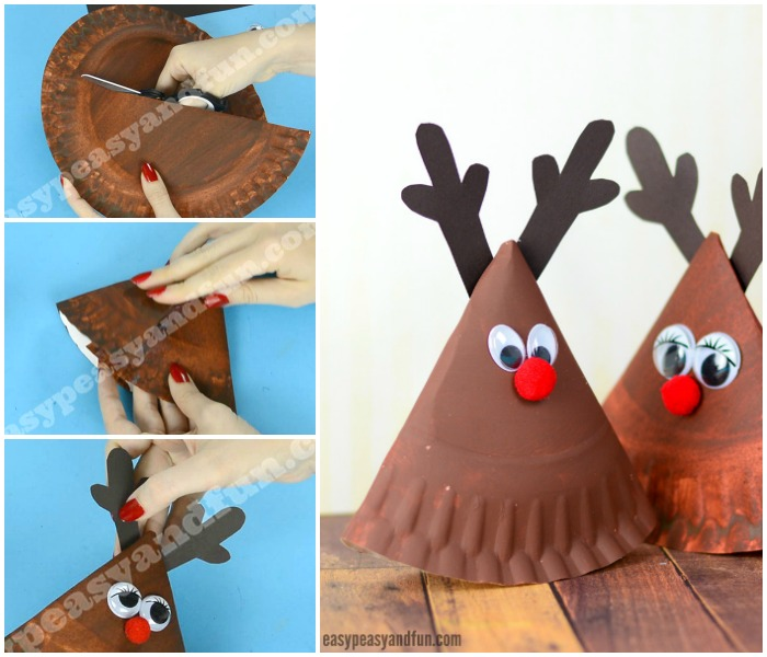 Rocking Paper Plate Reindeer Craft Idea for Kids