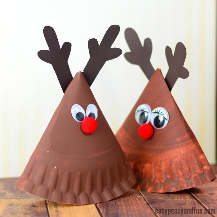 Rocking Paper Plate Reindeer Craft