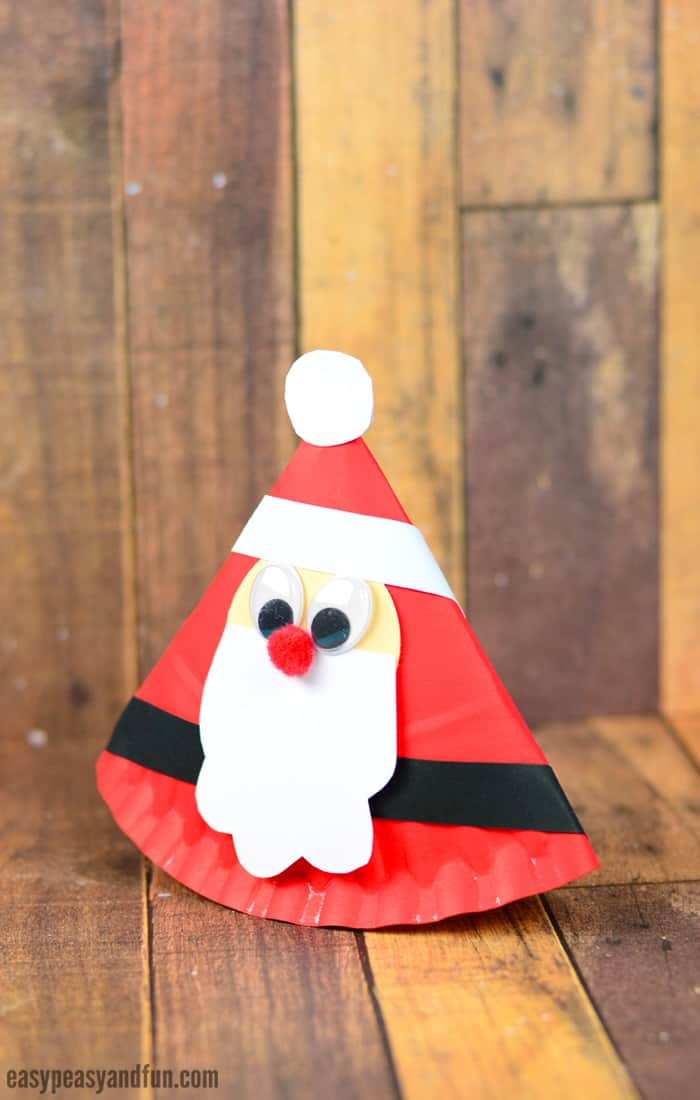 Rocking Paper Plate Santa Craft for Kids & Rocking Paper Plate Santa Craft for Kids - Easy Peasy and Fun