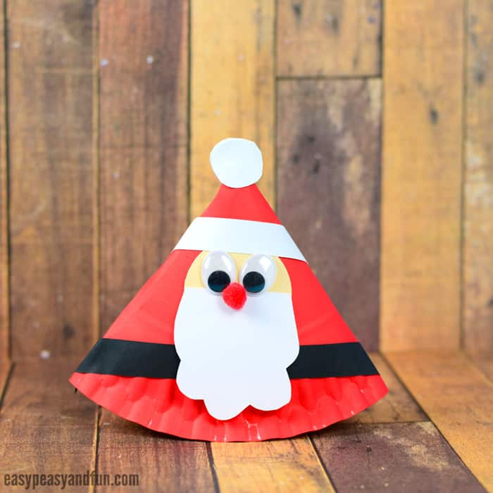Rocking Paper Plate Santa Craft