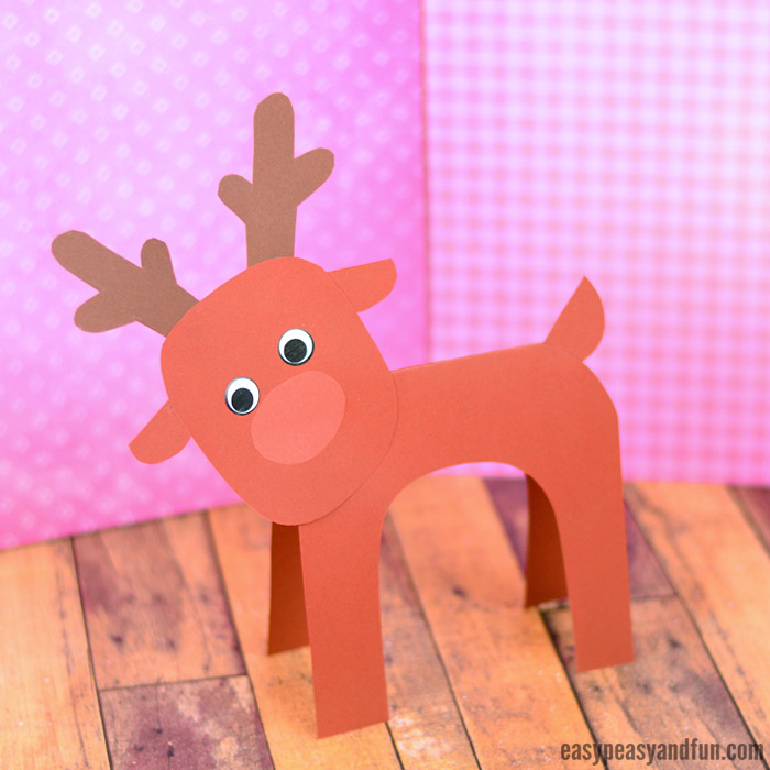 Simple Reindeer Paper Craft for Kids to Make