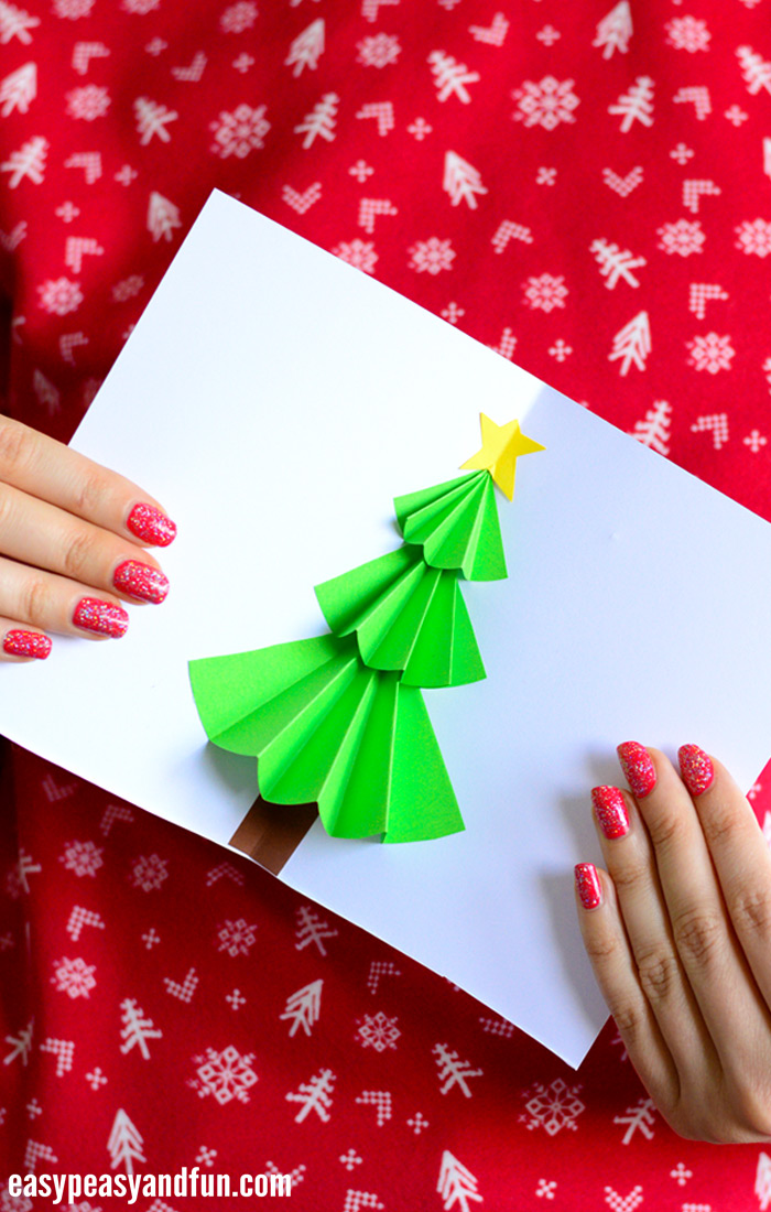 Christmas Pop Up Cards.Christmas Tree Pop Up Card Easy Peasy And Fun