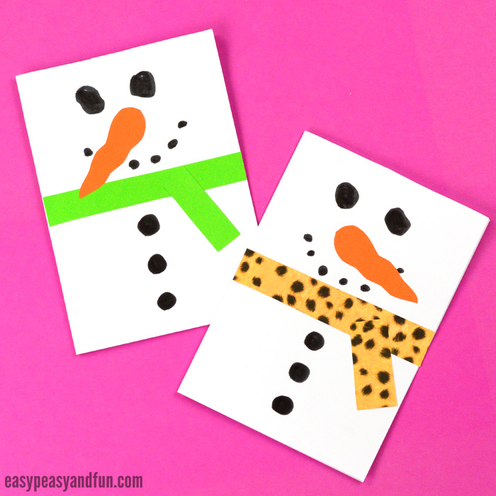 Snowman Christmas Card Craft Kids