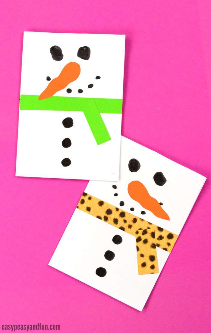Snowman Christmas Cards Ideas.Snowman Christmas Card Easy Peasy And Fun