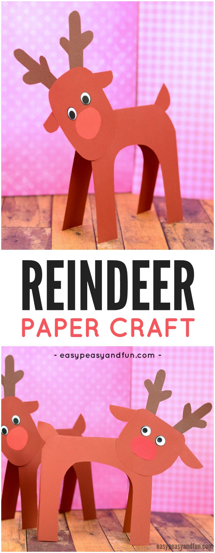 craft ideas of paper simple reindeer paper craft easy peasy and 3927
