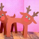 Super Simple Reindeer Paper Craft for Kids