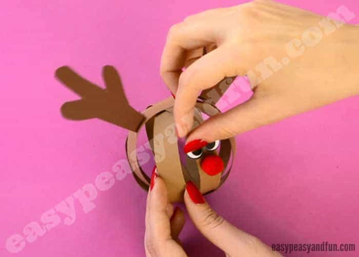 paper ball reindeer craft paper reindeer craft easy peasy and 5070