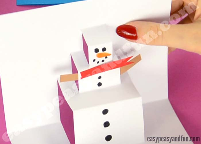 Snowman Pop Up Card Easy Peasy And Fun