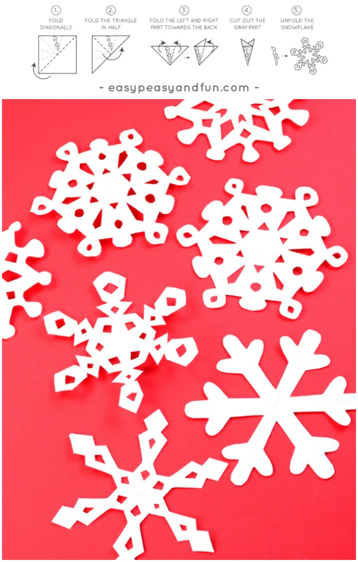 How To Make Paper Snowflakes Pattern Templates Easy Peasy And Fun Cool Snowflake Cutting Patterns