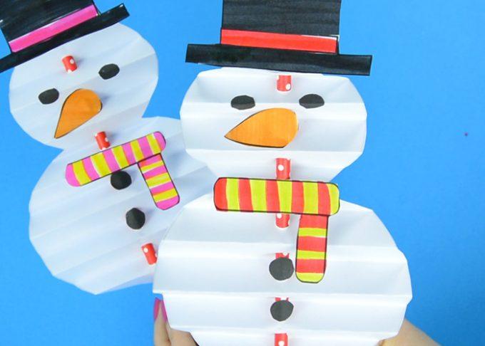 Accordion Paper Snowman