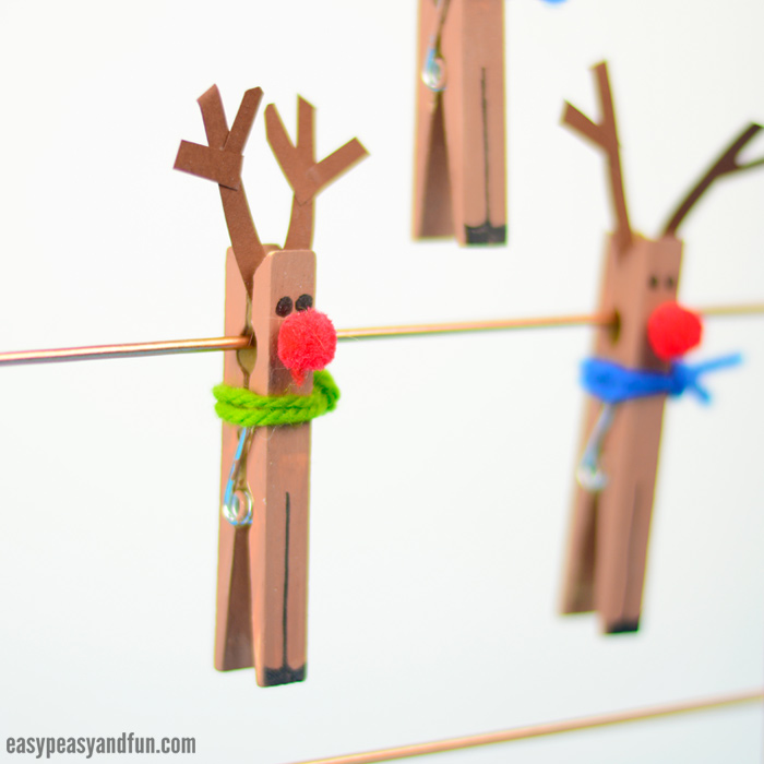 Clothespin Reindeer Craft for Kids to Make