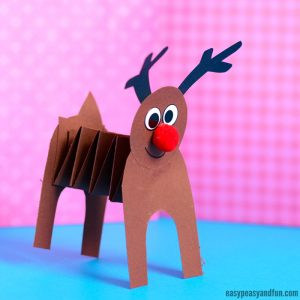 Cute Accordion Paper Reindeer Craft
